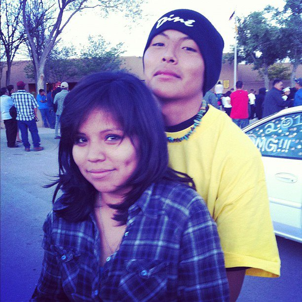 """[*True Love* on the rez. Reppin' the """"Dine"""" hat which means, """"the people"""" in Navajo.]"""