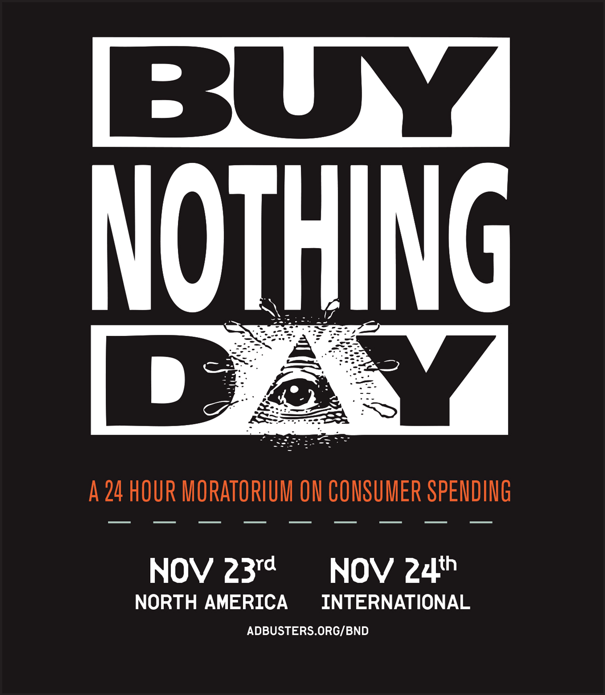 in the mood for buy nothing day ribbon around a bomb the