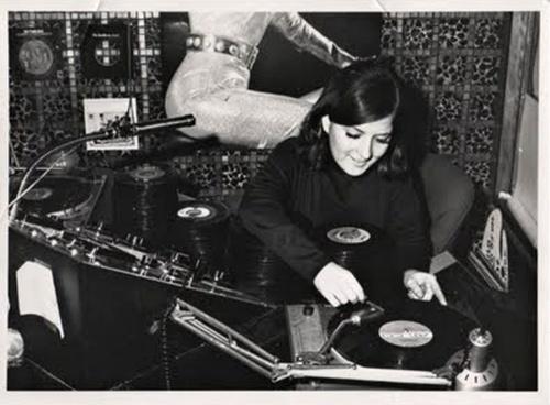 vintage radio girl