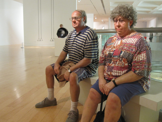 old couple on a bench duane hanson