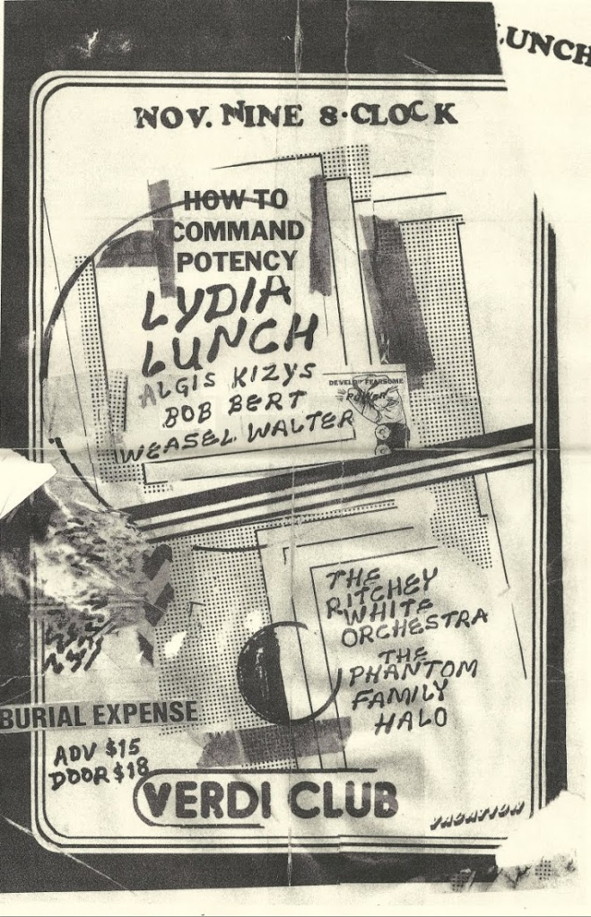 william keihn lydia lunch poster