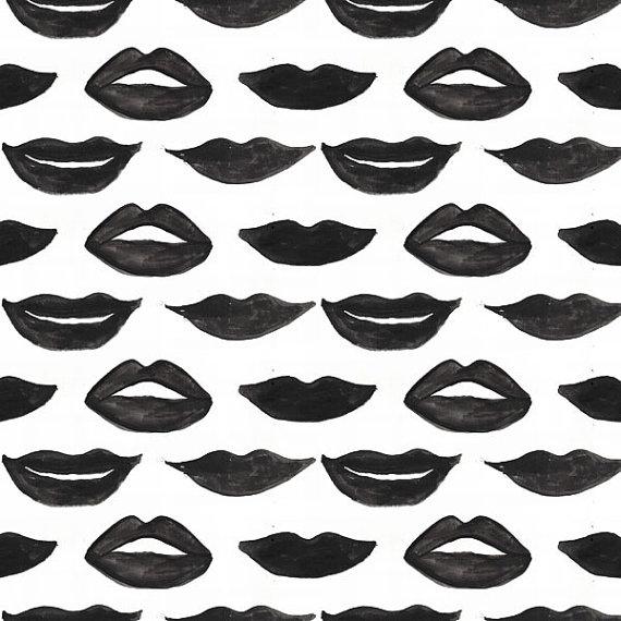 lips print dress