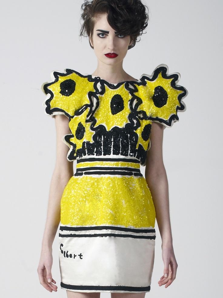 Style Ish: Philip Colbert's Sequined Pop Art Frocks ...