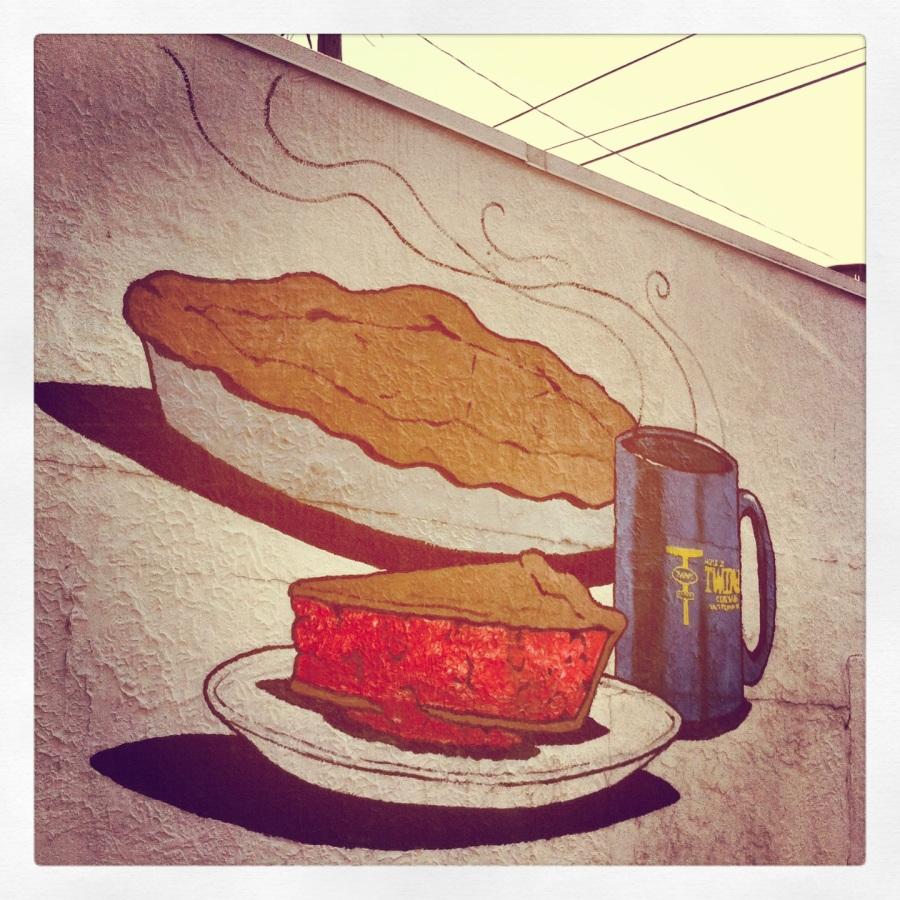 tp mural of pie