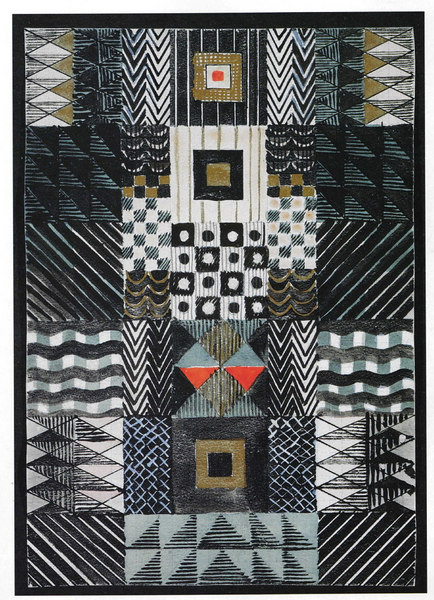 bauhaus gunta stolz Design for a Jacquard woven wall hanging 1927