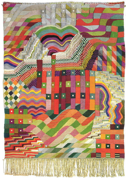 bauhaus gunta stolz slit tapestry red green 1927 1928