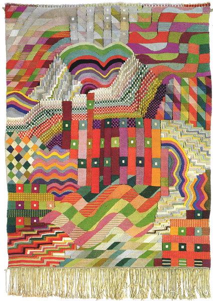 bauhaus gunta stolz slit tapestry red green 1927 1928