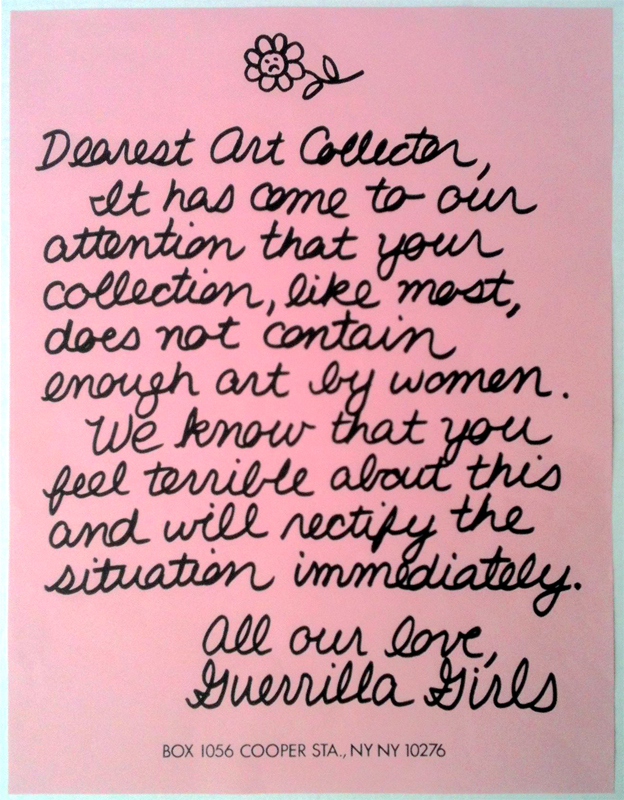 guerilla girls dearest art collector